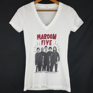 Tops - Maroon 5 T Shirt Tee Size Medium V Neck Cotton